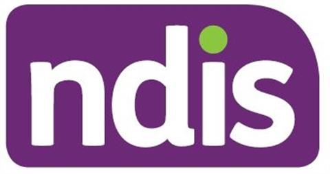 purple and green NDIS logo