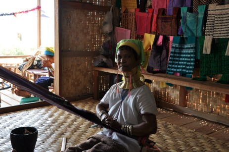 Long necked woman in Inle lake