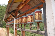 Prayer wheels on the way to Tigers nest