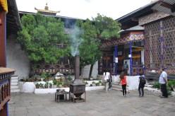 Kyichu Lhakhang Monastery Courtyard