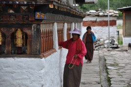 Kyichu Lhakhang Monastery Prayer Wheels