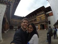 Inside the Dzong courtyard