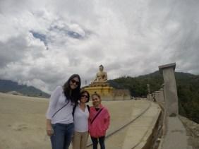 The girls at the Buddha