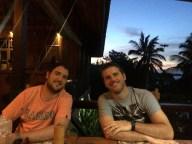 The boys having dinner