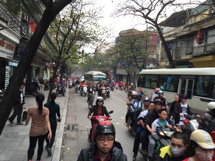 Crazy motorcycles are normal in Vietnam
