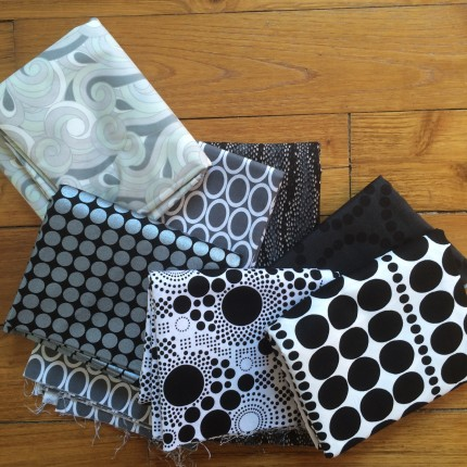 black and grey fabrics