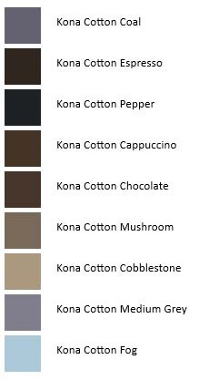Northern Ireland Giant's Causeway Kona Color Palette