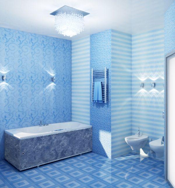 Panourile din PVC sunt adesea folosite în finisaj de baie.