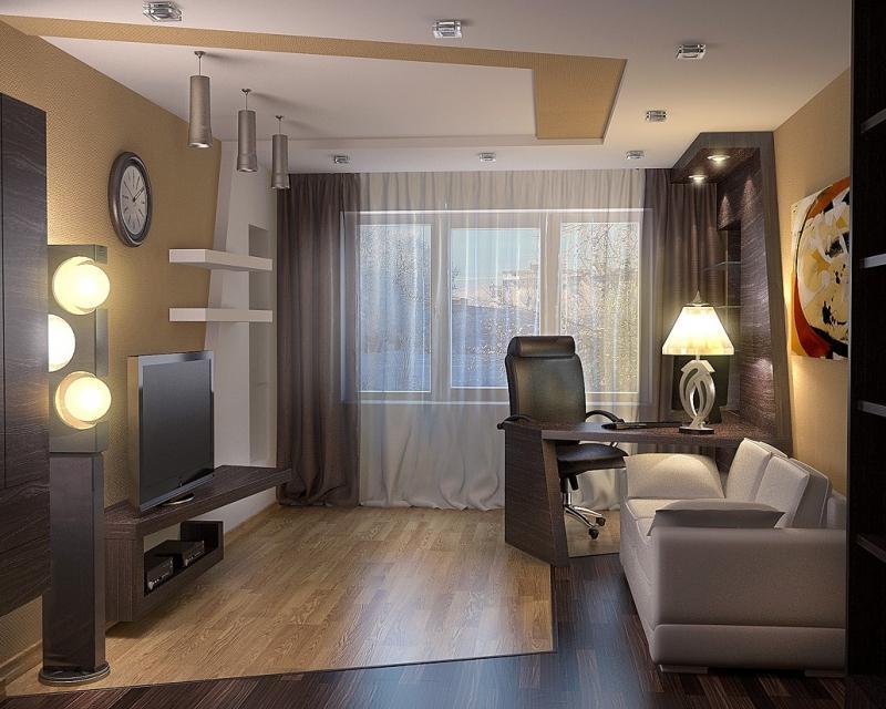 дизайн комнаты 16 кв м в однокомнатной квартире фото 5