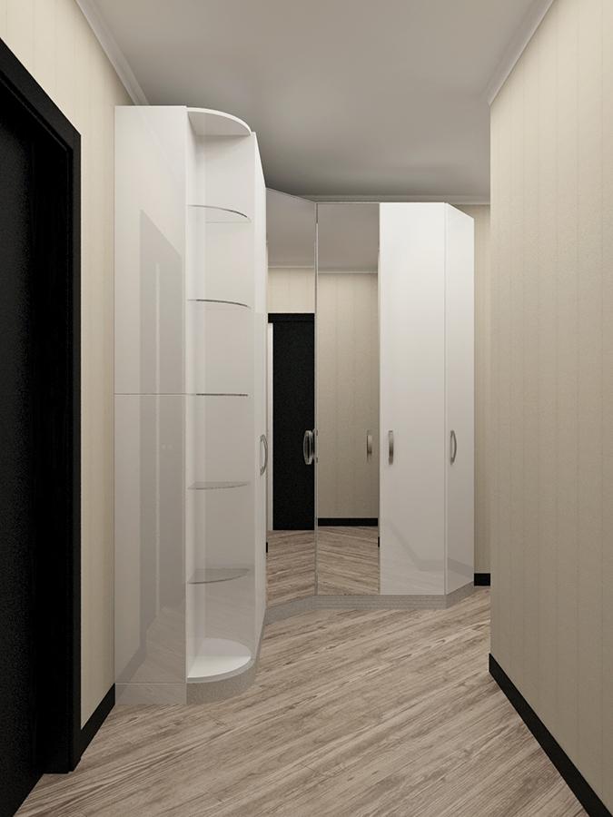 Прихожая 10 Шкафная группа в белой эмали из мдф фото 1