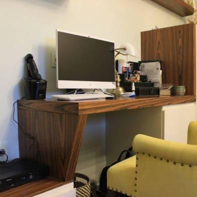 тумба и стол в гостиную, материал шпон палисандра, эмаль.