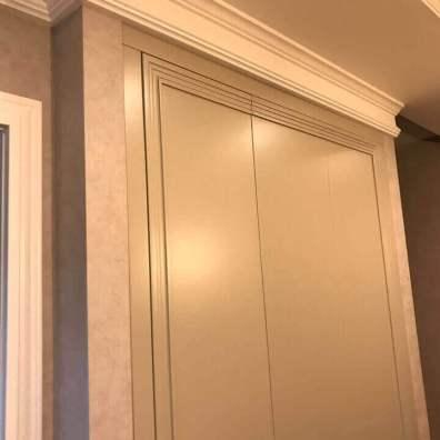 фрезеровка фасадов современная классика, мдф, эмаль матовая