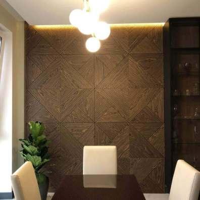 Фрезерованные стеновые панели фанерованные шпоном ореха