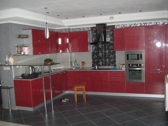 кухня в Новомосковске фото 21 красная кухня