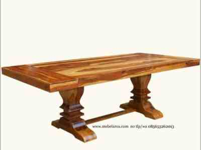 Meja Kayu Jati kaki Besar Model Kuno Furniture Jepara