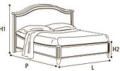 Кровать 120х200 GENDARME   без изн.