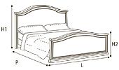 Кровать 160х200 GENDARME