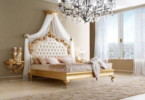 Кровать 180*200 (отделка золотом