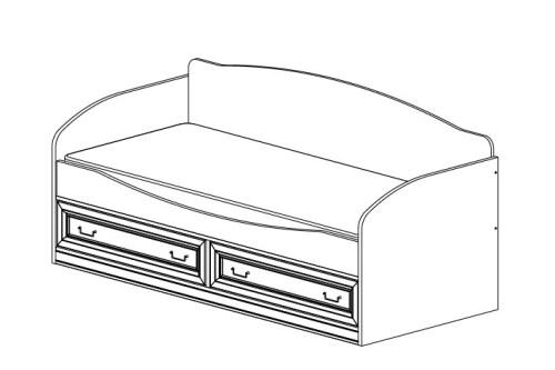 Кровать 800х1900 с двумя ящиками