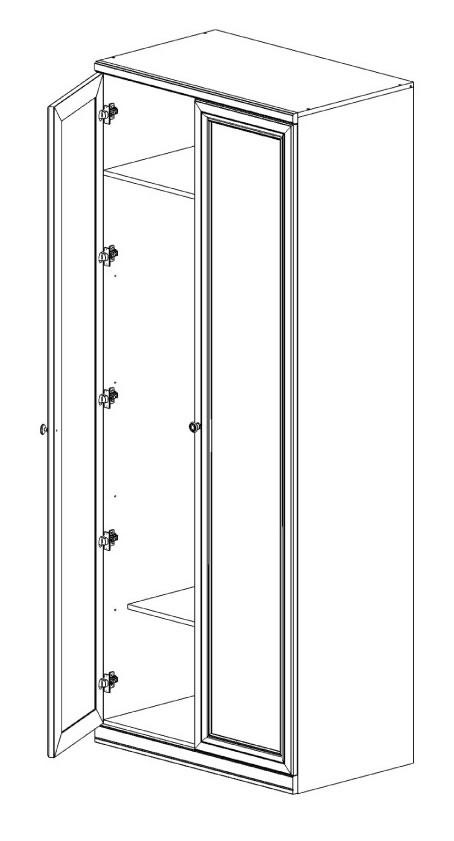 Шкаф  2-х дв. с глухими фасадами