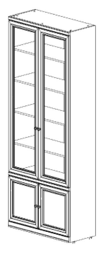 Шкаф книжный 2-х дв с глухим фасадом