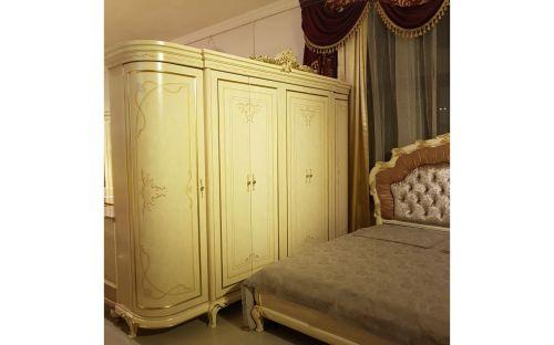 Спальня ЛУИЗА LUIZA K02, c 6-дверным шкафом, слоновая кость