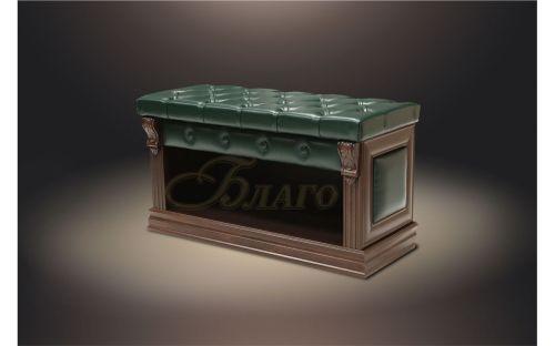 Банкетка-обувница с нишей Б5.5 Орех/Изумруд
