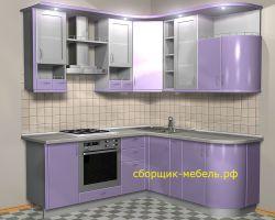 проект сиреневой кухни