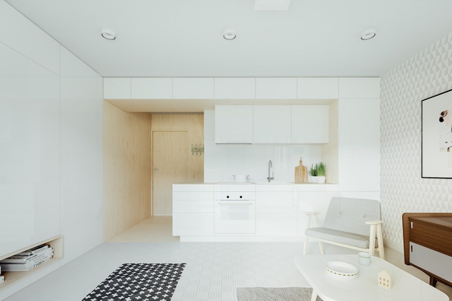 White Open Kitchen Mebelux