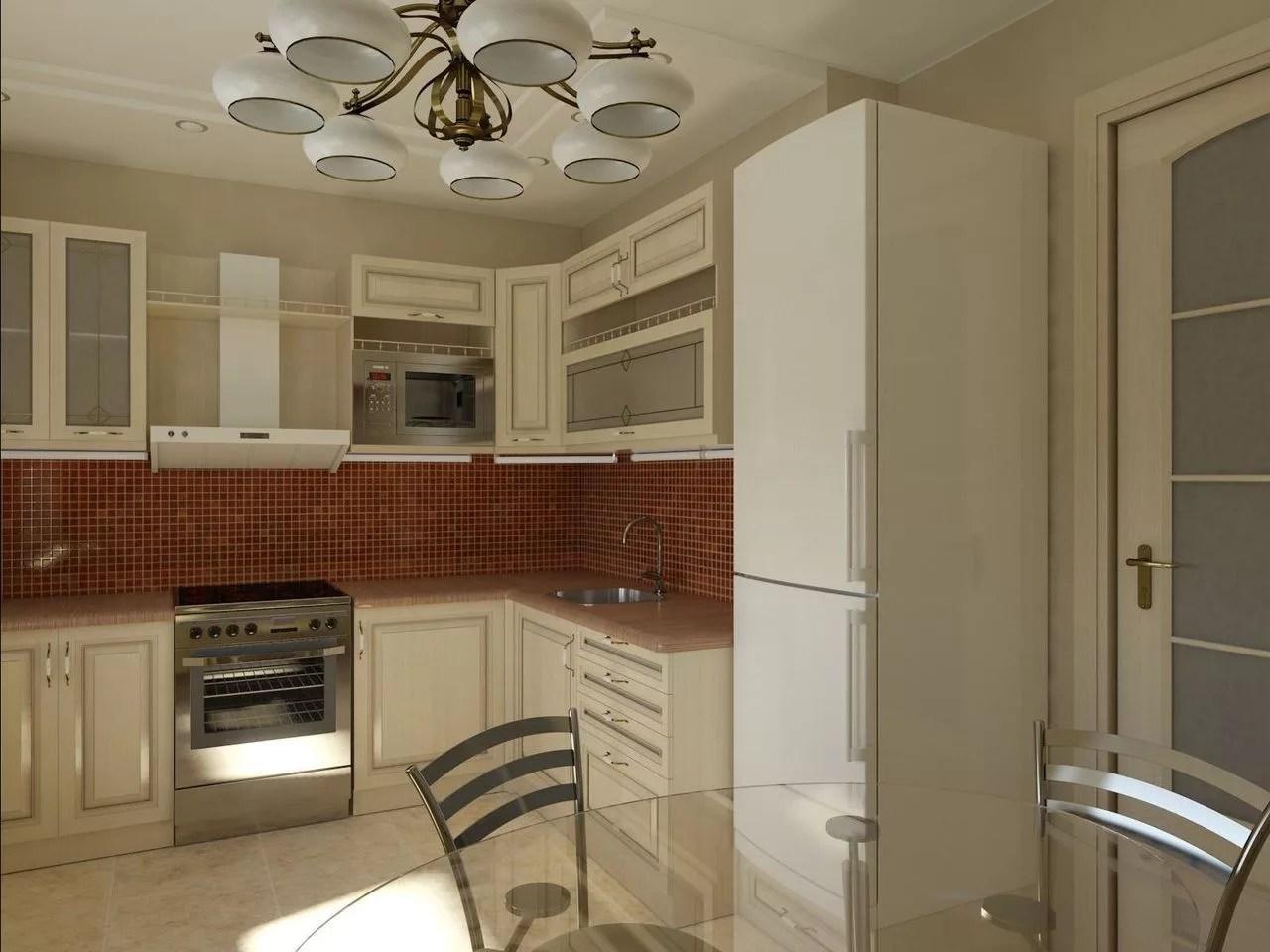 дизайн кухни 13 квадратных метров 2