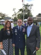 Dr. Rebecca Ekedede (wife of Dr. Ekedede), Chief Hutchison and Dr. Magnus Ekedede