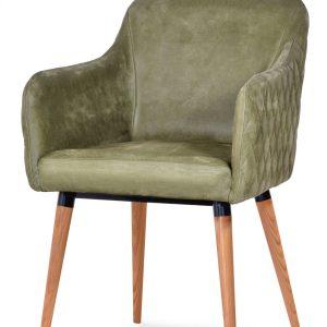 krzesło tapicerowane oliwkowe youri