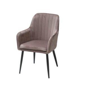 krzesło tapicerowane różowe robini