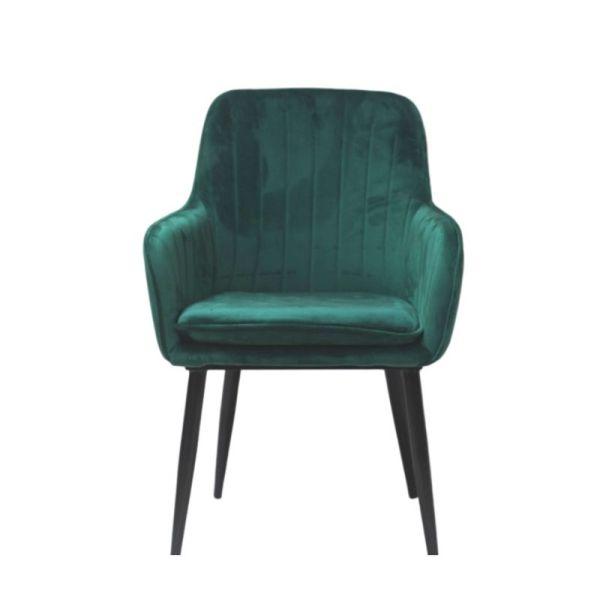 tapicerowane krzesło zielone