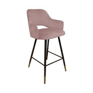 krzesło hokerowe rożowe milano