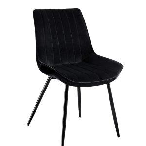 czarne krzesło tapicerowane prim