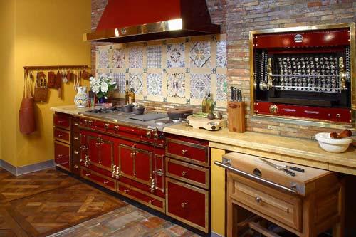 Кухонная плитка в стиле ретро.