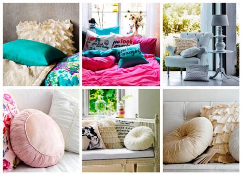 Декоративные подушки важно подобрать по цвету