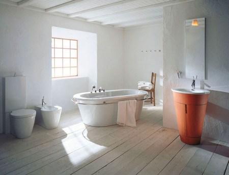 Скандинавский стиль ванной комнаты