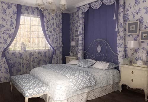 У спальни в этом стиле всегда романтическое настроение