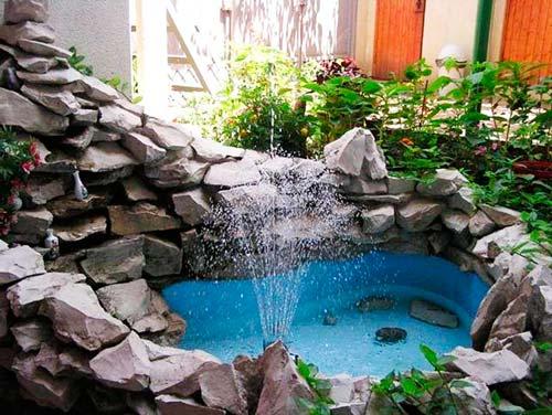 Размеры фонтана зависят от ваших возможностей