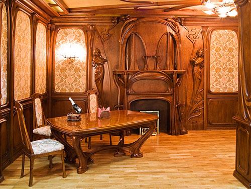 Часто мебель в стиле модерн подбирают в одном цвете с интерьером