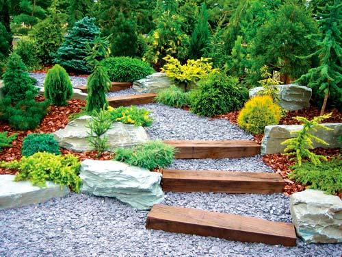 Как сделать обрамление садовой дорожки