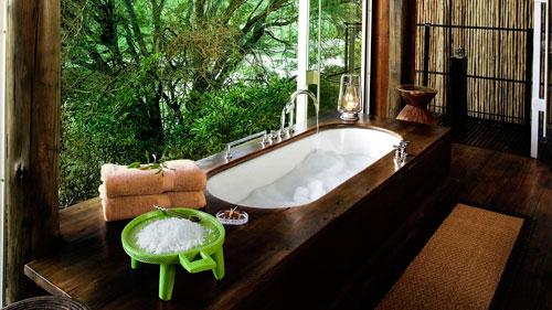 Ванная комната в стиле этно