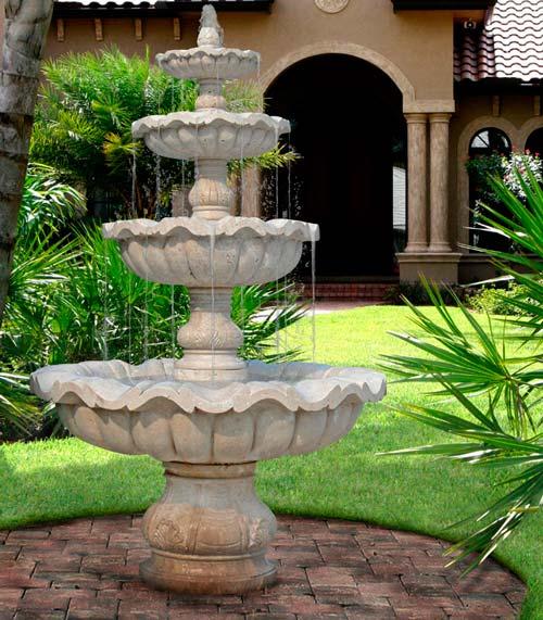 Размеры фонтана зависят от вашего вкуса и возможностей