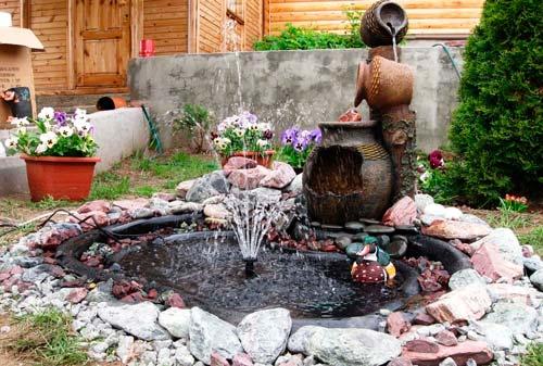 Для небольшого фонтана потребуется меньше усилий