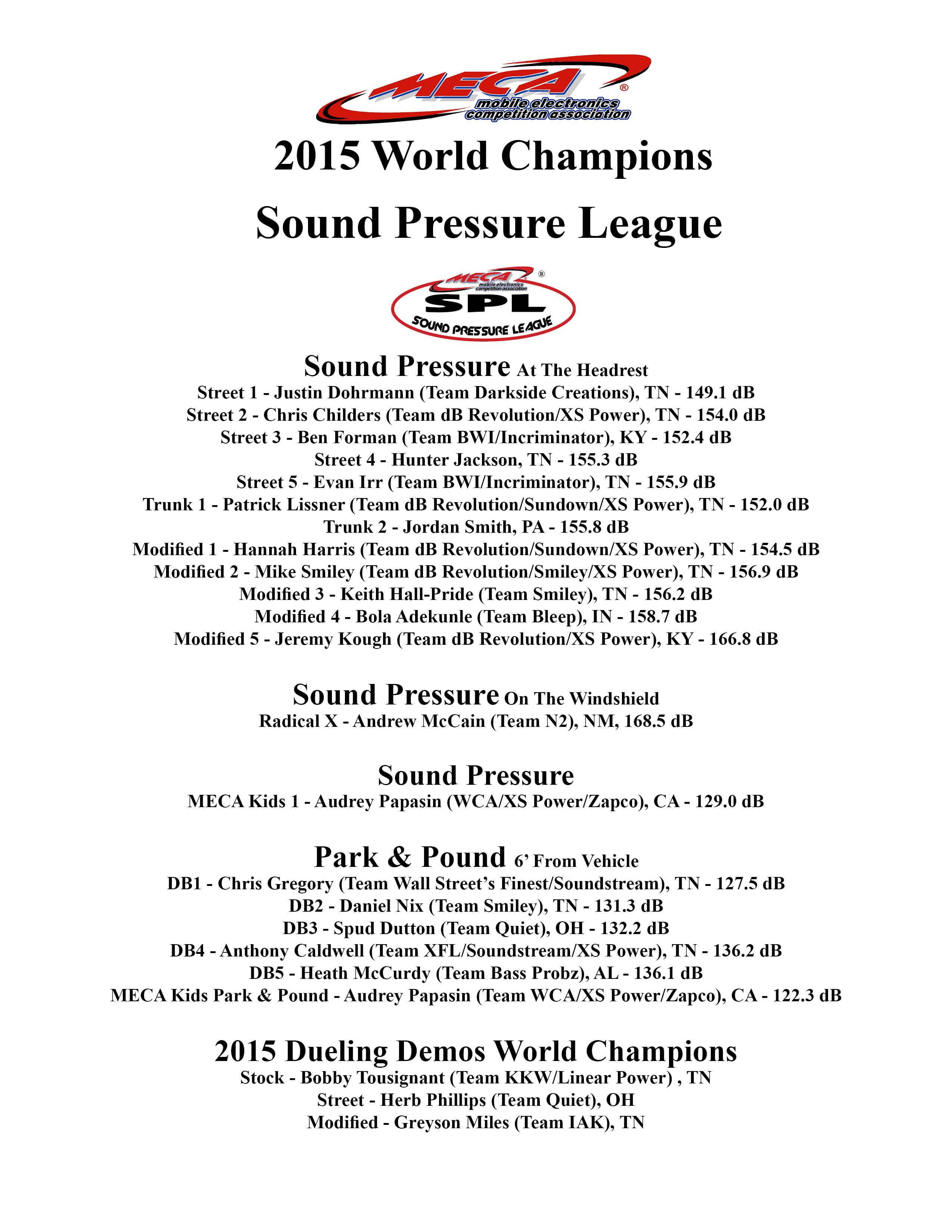 2015 SPL Champs