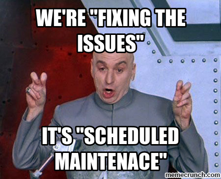Event Site Maintenance this weekend
