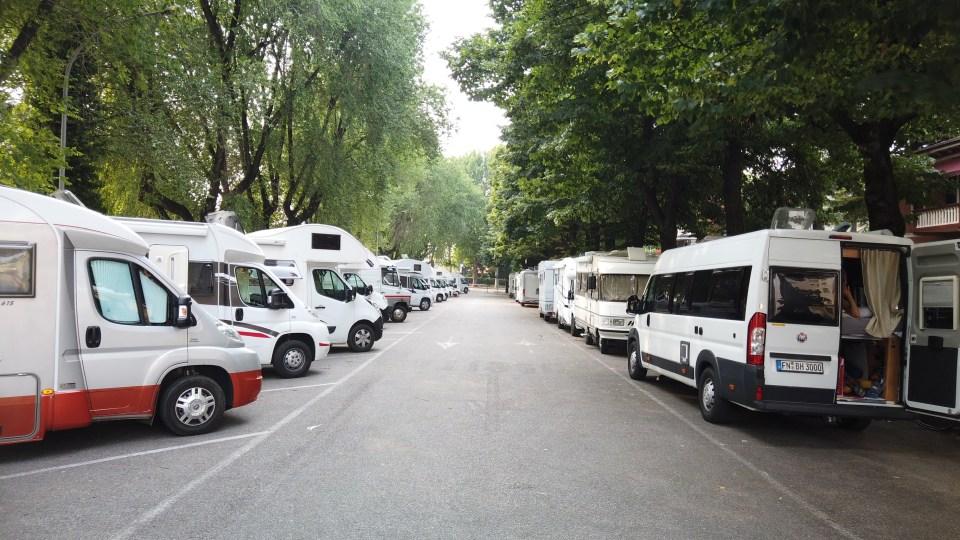 Ställplatsen i Verona
