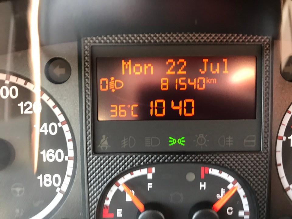 Vi anade rätt tidigt att detta skulle bli en varm dag